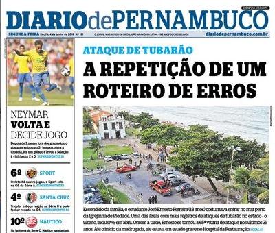 Diario de Pernambuco, 4 de junio de 2018.