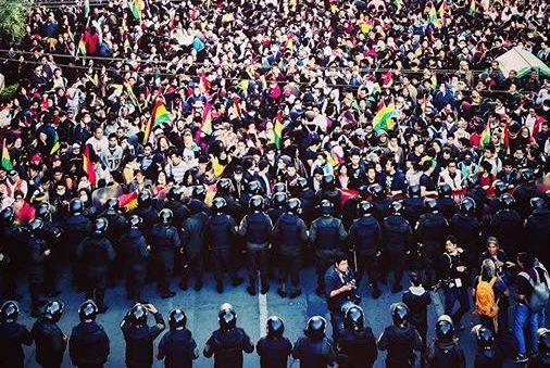 Manifestaciones en La Paz, Bolivia, tras denuncias de fraude electoral. (Paulo Fabre [CC BY-SA 4.0]).