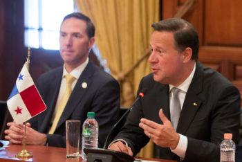 Former Panamanian president Juan Carlos Varela (right) (Photo- Presidencia de la República Mexicana : CC BY 2.0)