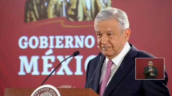 President Andrés Manuel López Obrador speaks at an April 23 press conference. (Screenshot)