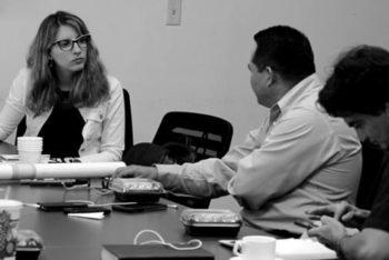 Agustina Grasso of Escritura Crónica teaches a workshop on crónicas. (Courtesy)