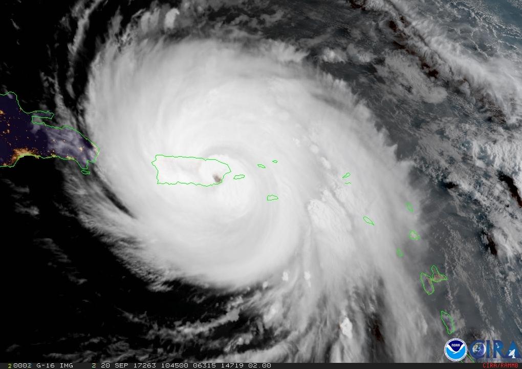 Hurricane Maria made landfall in Puerto Rico. (Photo NOAA via Flickr)