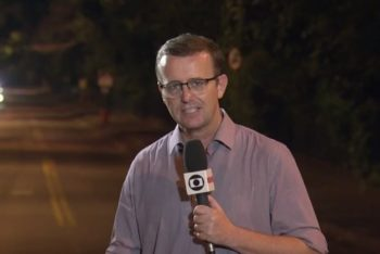 TV Globo reporter Carlos de Lannoy received a death threat after his report aired on Sunday (Apr. 07). (Screenshot).