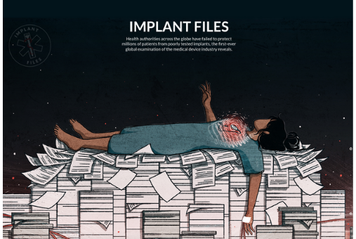 The Implant Files is a transnational investigation led by the International Consortium of Investigative Journalists (ICIJ). (Screenshot)