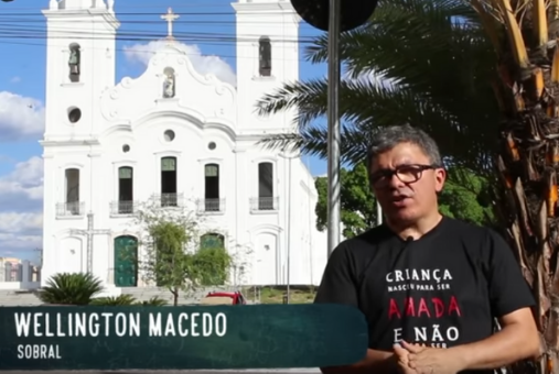 a screenshot from the Educação do Mal video report