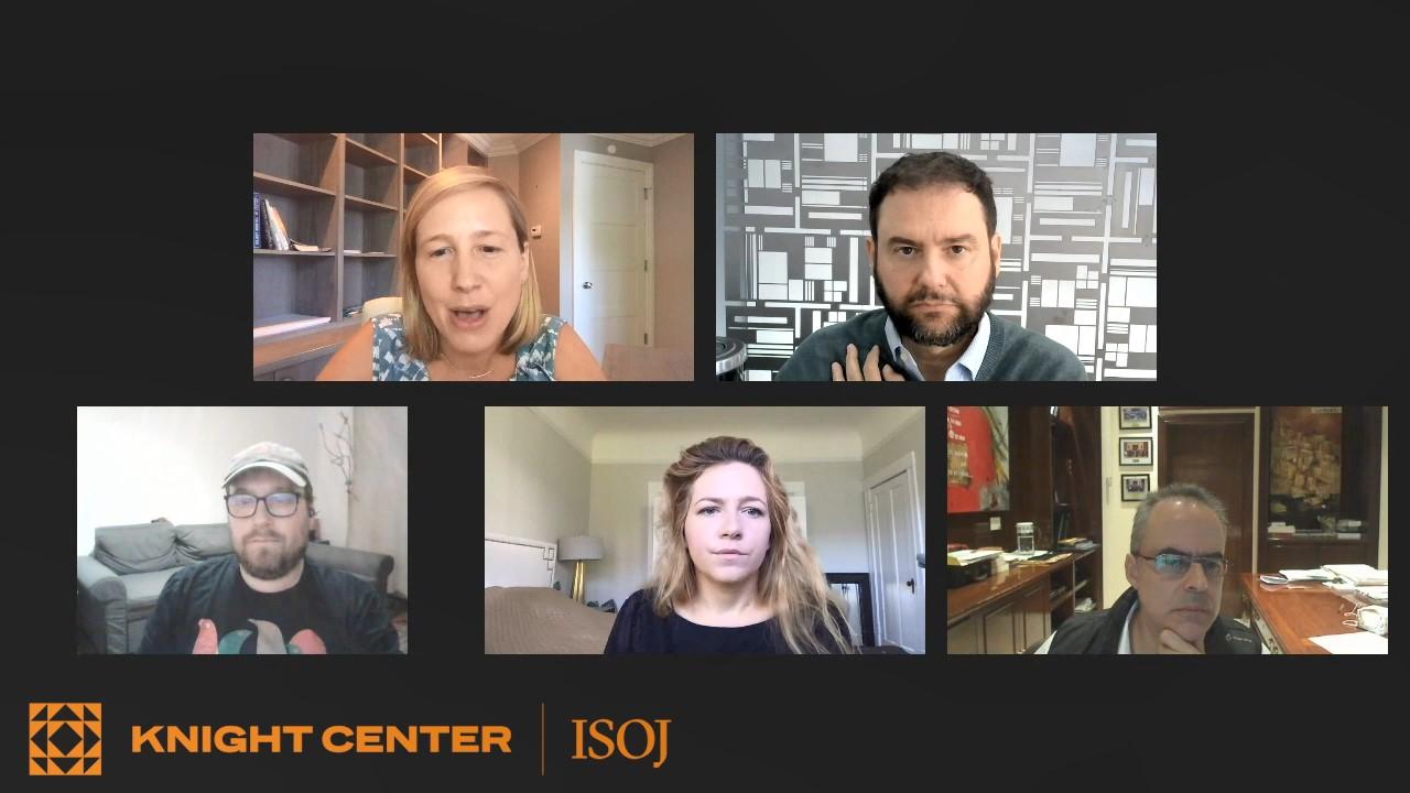 Katie Kingsbury (The New York Times), Sérgio Dávila (Folha de S. Paulo), Peter Erdelyi (444.hu), Anna Gielewska (Reporters Foundation – Poland), and Juan E. Pardinas (Reforma)