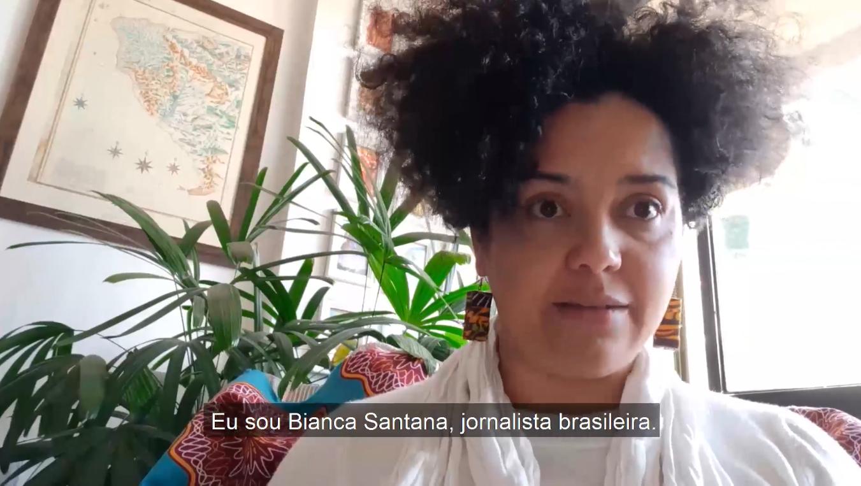 Bianca Santana apresentou denúncia de 19 organizações à contra o presidente Jair Bolsonaro por ataques a mulheres jornalistas. Foto: reprodução