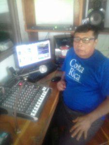Jorge Morales, 60, farmer and radio announcer at Radio Cultural La Voz de Talamanca. Photo: Personal archive