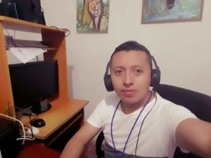 Marcelo Galicia, director of Radio La Voz de Mi Gente, from El Salvador