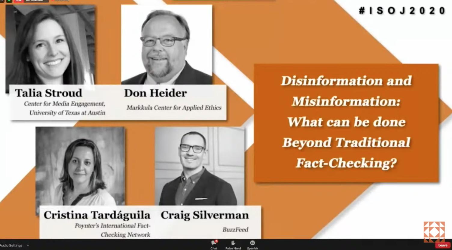 Misinformation and disinformation beyond fact-checking panel ISOJ2020