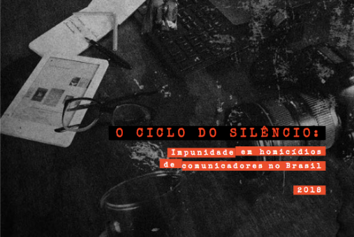 Report from Article 19 on impunity in murders of Brazilian communicators (Screenshot)