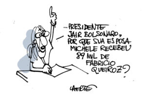 The question that made Bolsonaro threat of aggression a reporter went viral on social media. Cartoon: Laerte Coutinho