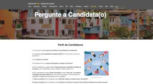 Seção de perguntas do projeto Manual GPI Eleições 2020. Foto: captura de tela