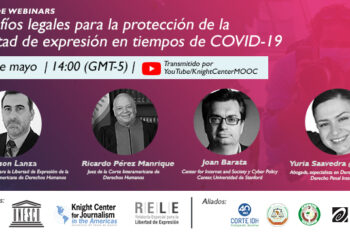 """Webinar """"Legal challenges for the protection of freedom of expression in times of COVID-19."""""""
