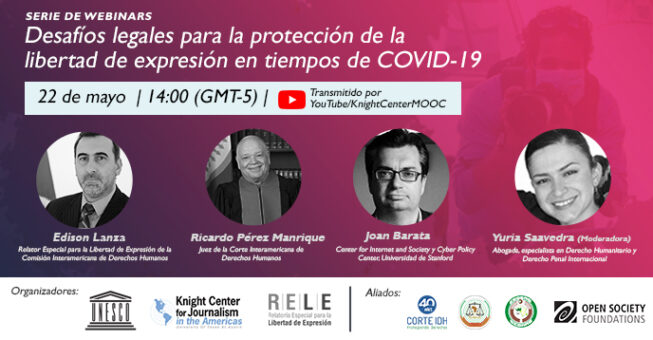 """Webinar """"Legal challenges for the protection of freedom of expression in times of COVID-19"""""""