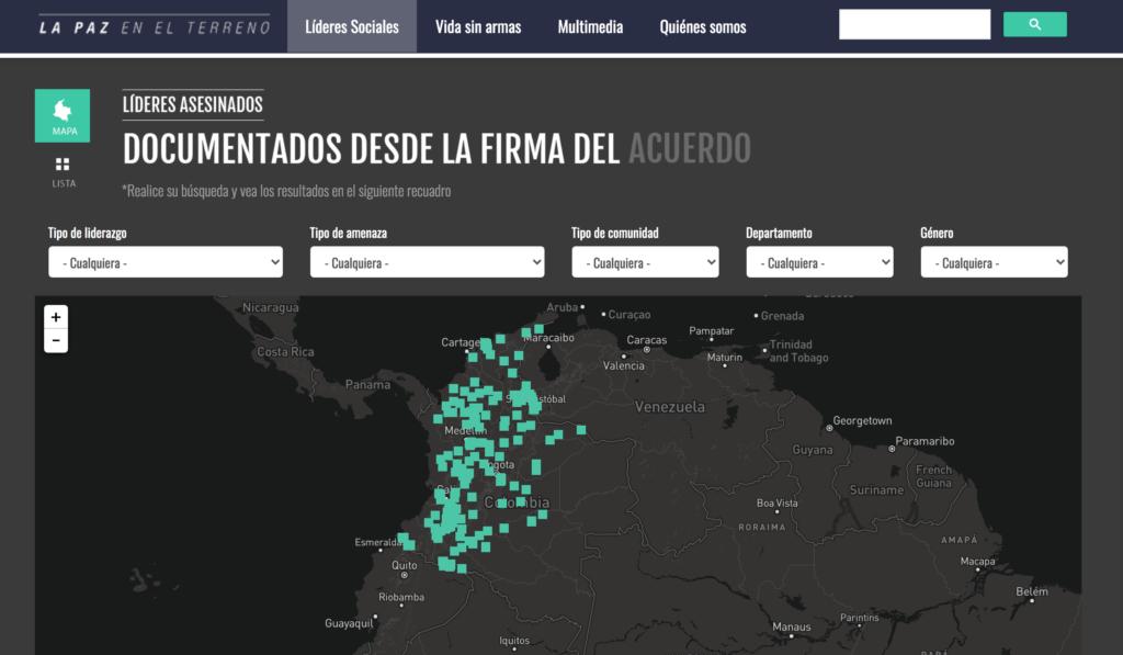 Proyecto periodístico La Paz en el Terreno - Colombia