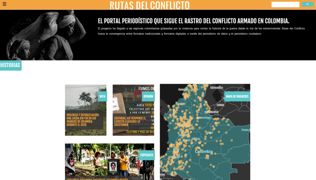 Sitio colombiano Rutas del Conflicto