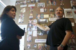 Peruvian journalists Paola Ugaz and Pedro Salinas
