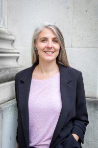 Ela Stapley, que é consultora em segurança digital da IWMF