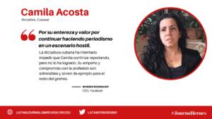 #JOURNOHEROES Camila Acosta ESP