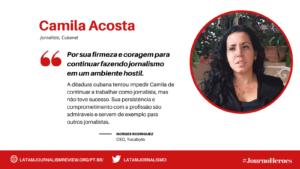 #JOURNOHEROES Camila Acosta PT