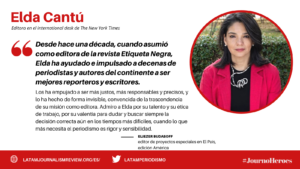 #JOURNOHEROES ELDA CANTU ESP