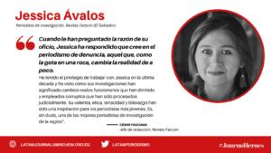 #JOURNOHEROES Jessica Avalos ESP
