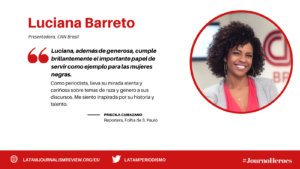 #JOURNOHEROES Luciana Barreto ESP