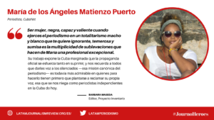 #JOURNOHEROES Maria Matienzo ESP