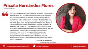 #JOURNOHEROES Priscila Hernández Flores ESP
