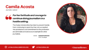 #JournoHeroes Camila Acosta ENG