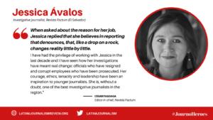 #JournoHeroes Jessica Avalos ENG