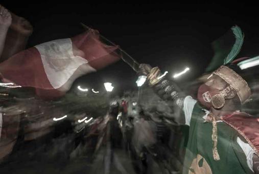 Foto de protestas en Lima, Perú