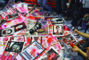 Protests against murders of journalists in Mexico