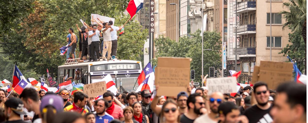 Protestas sociales, Chile.