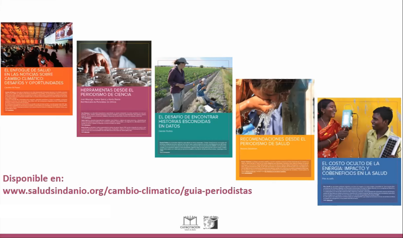 Healthcare Without Harm organization guide is divided into five chapters. Photo: screenshot