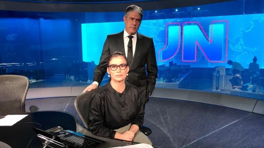 William Bonner and Renata Vasconcelos. Photo: TV Globo