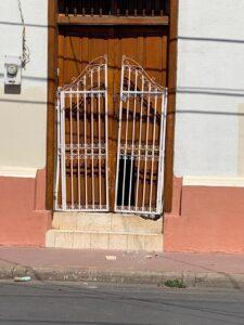 Front door to home of Anibal Toruno