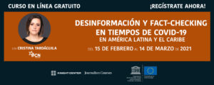 Desinformación y Fact-checking COVID banner