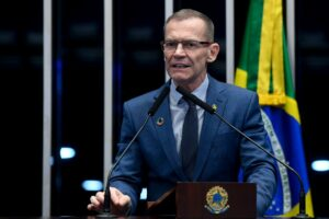 """Senator Fabiano Contarato: 'Criminal law has an educational and symbolic function in demonstrating that society and the State value – and will act to protect – press freedom."""" Photo: Marcos Oliveira / Agência Senado"""