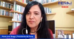 """Maria José Braga, da Fenaj: """"o Estado brasileiro, que antes era omisso, agora é o principal agressor""""."""