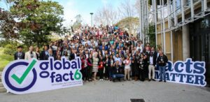 Members of the International Fact-Checking Network at the Global Fact 6 conference