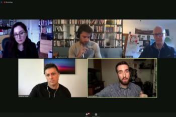 O painel reuniu os jornalistas científicos André Biernath, do Brasil; Federico Kukso, da Argentina; Kai Kupferschmidt, da Alemanha; e Yves Sciama, da França. A moderação foi de Maryn McKenna.