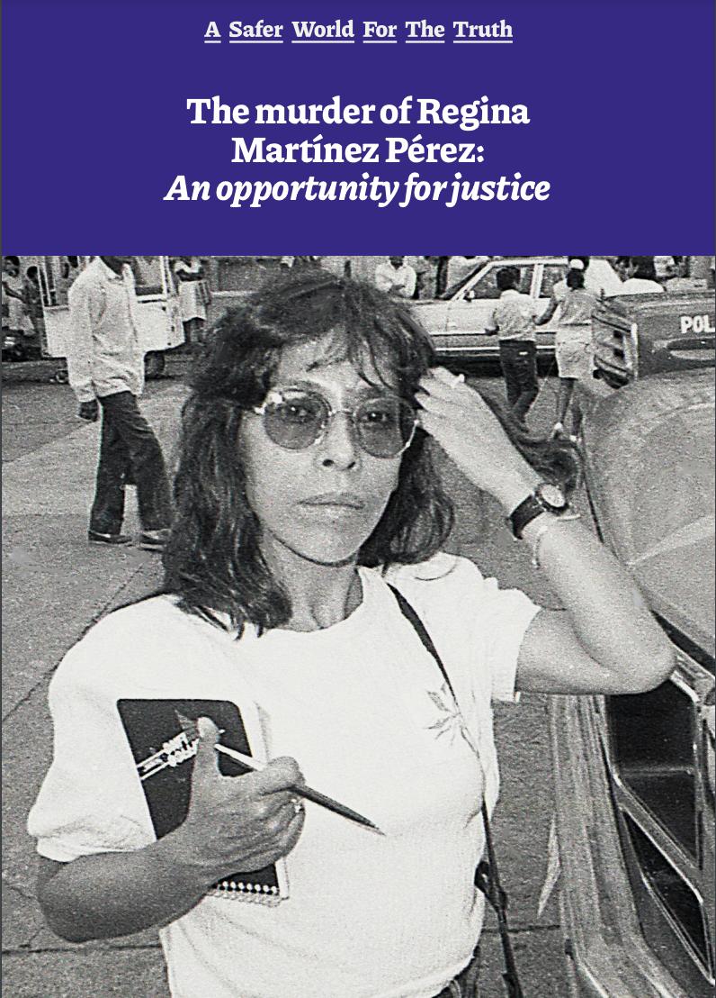 CPJ-RSF-FPU reporte sobre Regina Martinez