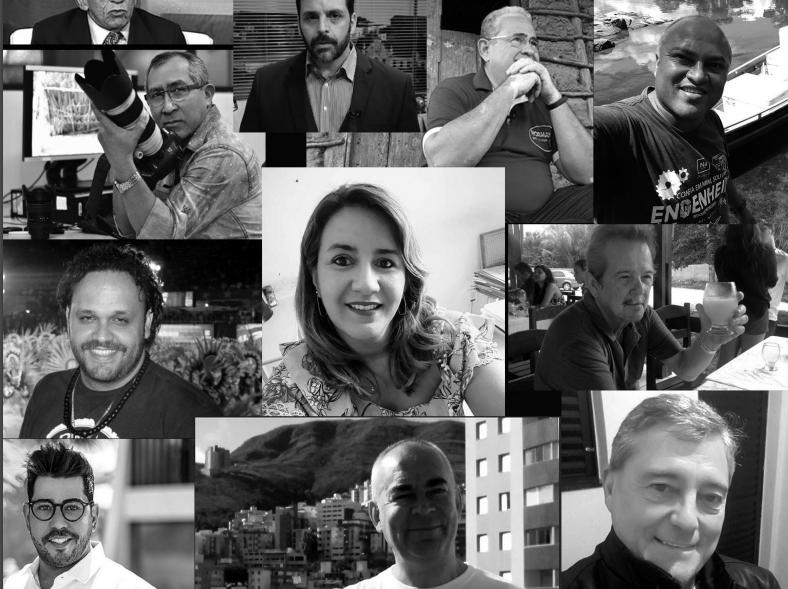 Periodistas brasileños muertos por COVID-19. (Crédito: Fenaj)