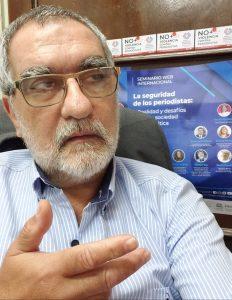 José María Costa, coordenador da Mesa para a Segurança de Jornalistas do Paraguai: lei de proteção e segurança para o jornalista só terá eficácia se Estado tiver condições de implementá-la