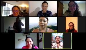 Reunión con liderazgos indígenas y miembros de la Red