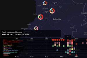 Print screen do mapa de violencia policial