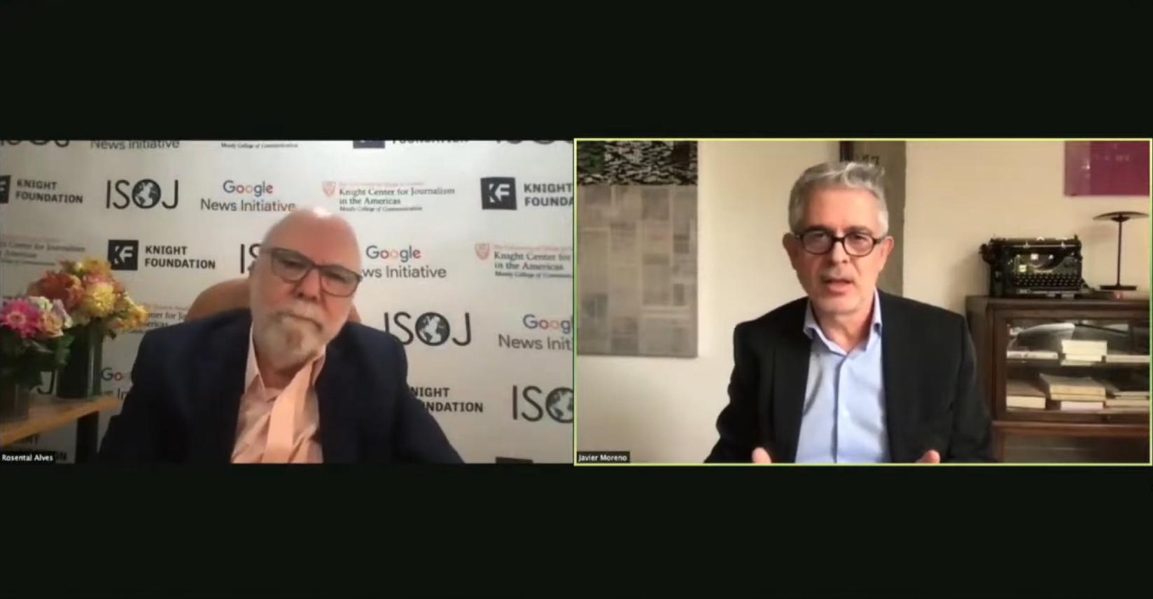 Rosental Alves e Javier Moreno no 14º Colóquio Ibero-Americano de Jornalismo Digital
