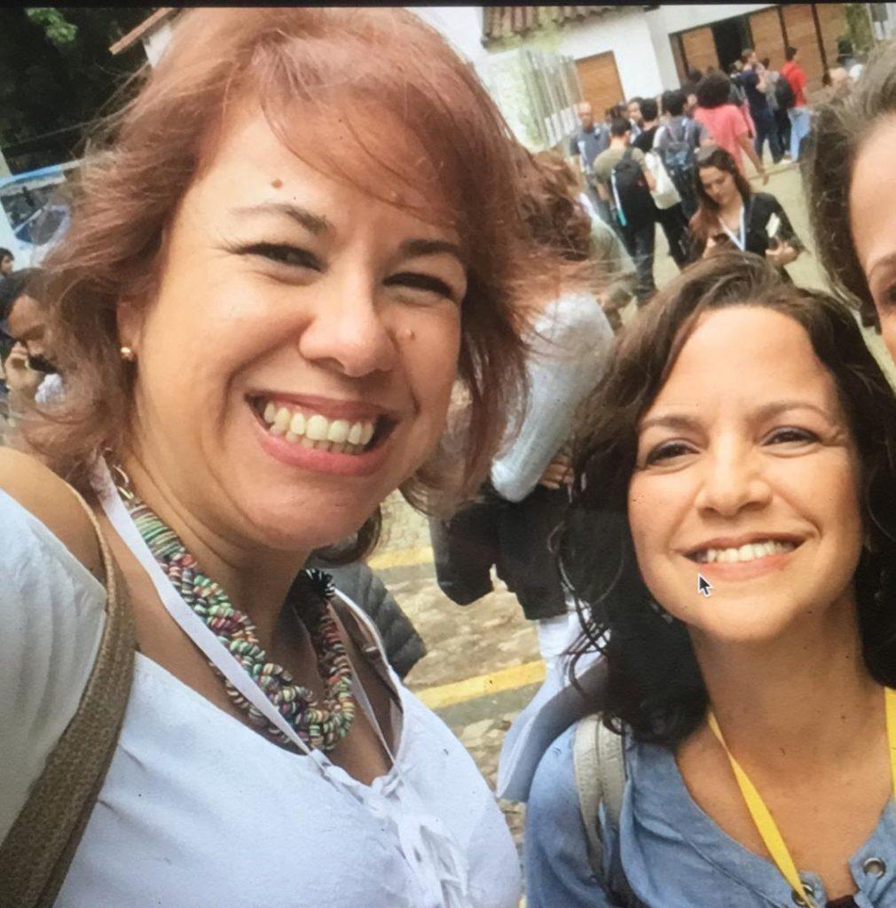 Periodistas venezolanas Carmen Riera y Yelitza Linares